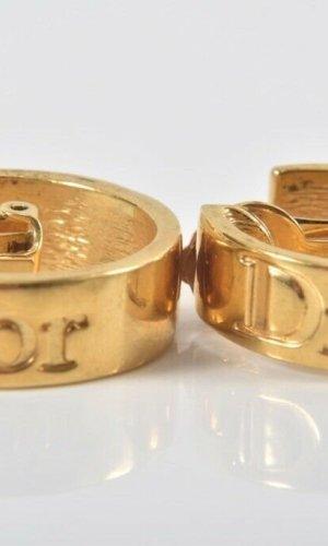 Orig. Christian Dior Designer XXL Ohrclips gold Clips Ohrringe 18K gold vergoldet