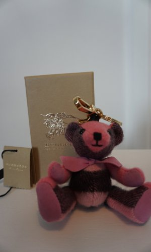 Original Burberry Rose Pink Check Cashmere Thomas Bear Charm NP170€ Sold out piece