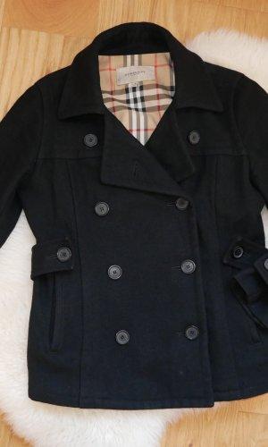 Original Burberry Wolljacke Wollmantel Kurzmantel Damen Jacke Mantel kurz Gr.38/M Wolleschwarz