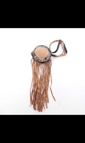 Dolce & Gabbana Fringed Bag azure-light brown