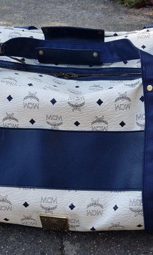 MCM Sports Bag white-dark blue