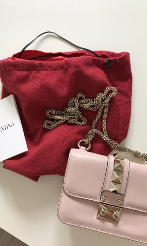 Original Valentino Glam Lock small Rockstud Bag Tasche Crossbody P45 Poudre
