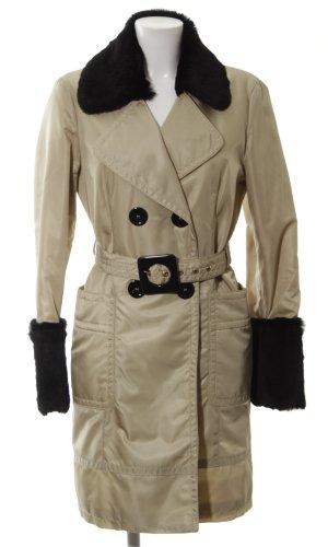 Orwell Between-Seasons-Coat cream-black casual look