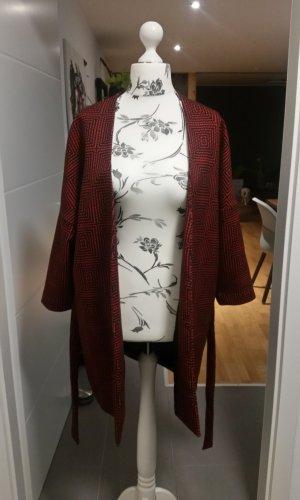 Oversize Mantel Rot Schwarz Gr. S H&M