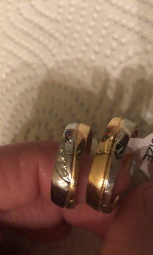 Partnerring zilver-goud