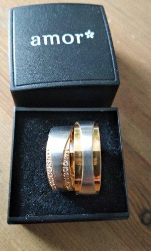 amor Partnerring zilver-goud