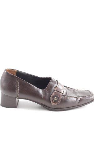 Paul Green Zapatos estilo Richelieu marrón estilo «business»