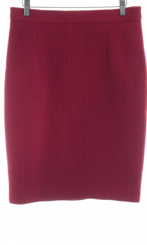 PAUW Wollen rok donkerrood casual uitstraling
