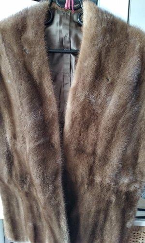 Écharpe ronde beige-chameau