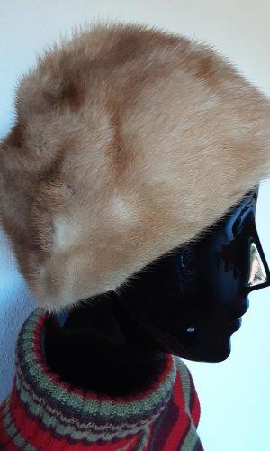 Chapeau en fourrure chameau pelage