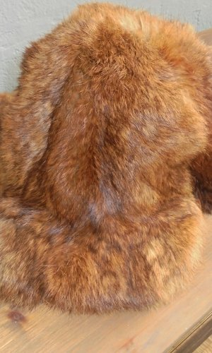 Chapeau en fourrure brun pelage