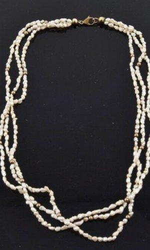 Perlen Kette mit 8kt/333er Kugel und Verschluss
