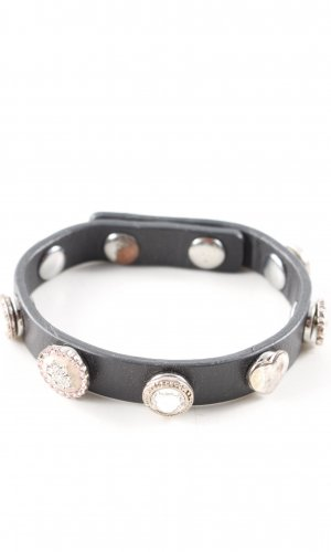 Pilgrim Leather Bracelet black casual look