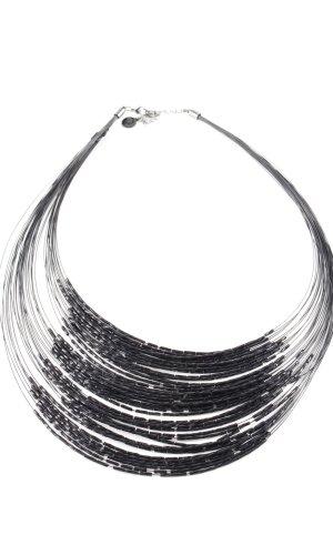 Pippa & Jean Collar negro-color plata estilo clásico