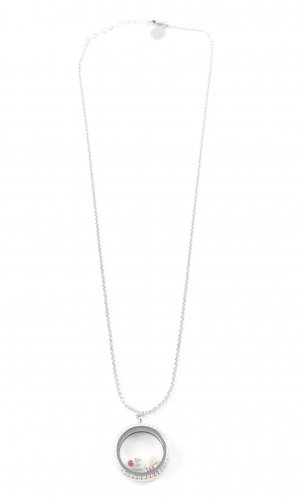 Pippa & Jean Necklace silver-colored glittery