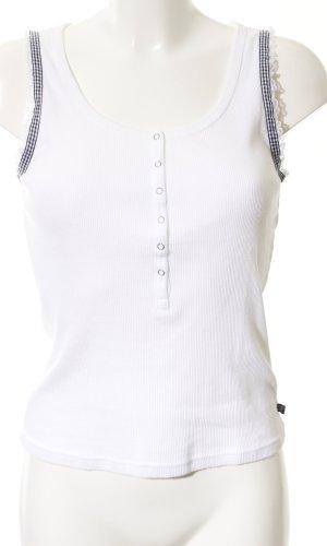 Polo Jeans Co. Ralph Lauren Kanten topje wit-zwart gestreept patroon