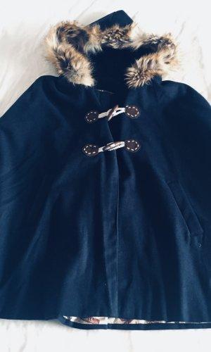 Écharpe à capuche bleu foncé