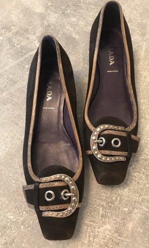 Prada Slip-on Shoes dark brown suede