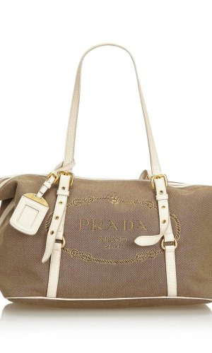 Prada Canapa Canvas Shoulder Bag