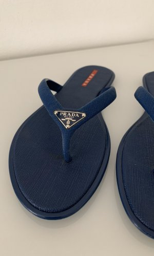 Prada Flip-Flop Sandals dark blue