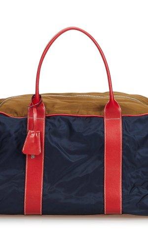 Prada Travel Bag blue nylon