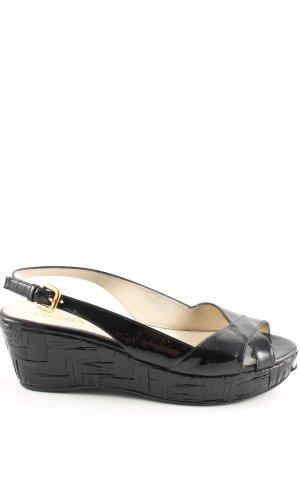 Prada Platform High-Heeled Sandal black casual look