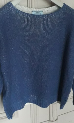 Prada Wool Sweater blue wool