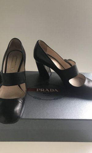 Prada Escarpins Mary Jane noir