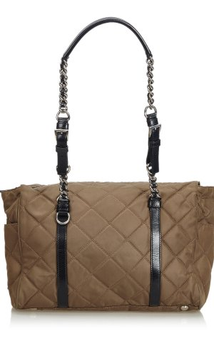 Prada Quilted Tessuto Nylon Chain Shoulder Bag