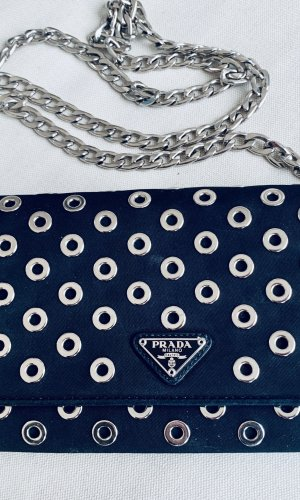 Prada -RARE- Mini Bag Clutch WOC Black Crossbody Tessuto&Calf leather 1MT290 Lmt Edition