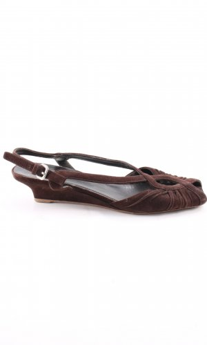 Prada Strapped Sandals brown casual look