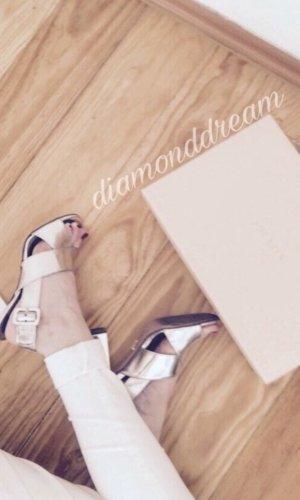 Prada High Heel Sandal silver-colored-gold orange