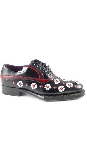 Prada Lace Shoes flower pattern elegant