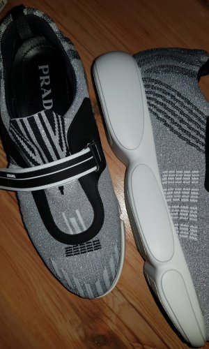 Prada Velcro Sneakers black-silver-colored