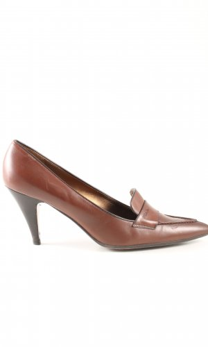 Prada Pointed Toe Pumps bronze-colored business style