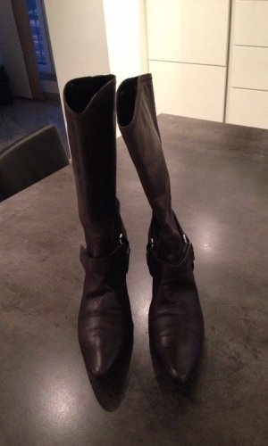 Prada High Boots taupe-grey brown