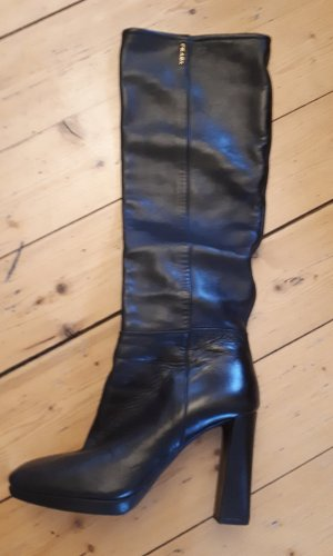 Prada Heel Boots black leather