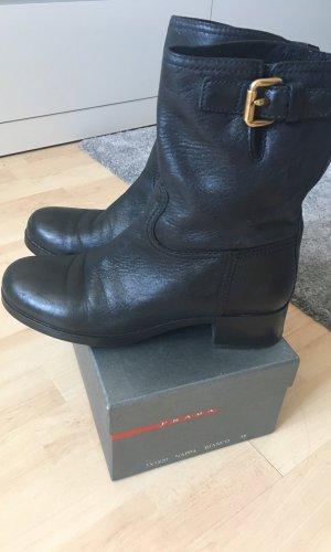 Prada Slip-on Booties multicolored leather