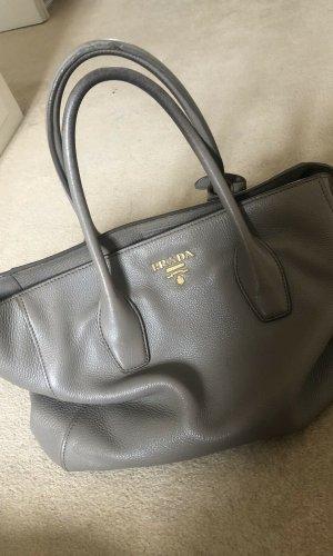 Prada Handbag grey-light grey leather