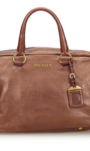 Prada Handbag bronze-colored leather