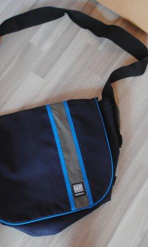 Laptoptas donkerblauw-korenblauw