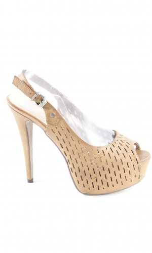 Primadonna collective Peeptoe Pumps camel Party-Look