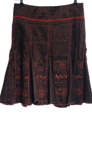 Promod Jupe à plis brun élégant