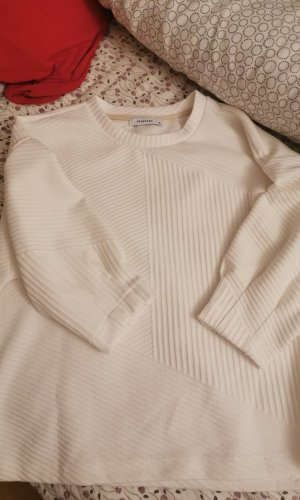 Mango Sweater met korte mouwen wit
