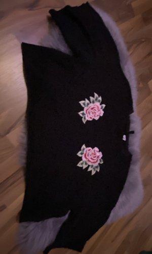 H&M Sweater met korte mouwen zwart