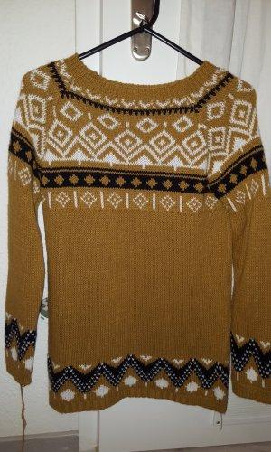 Sweaterjurk zandig bruin