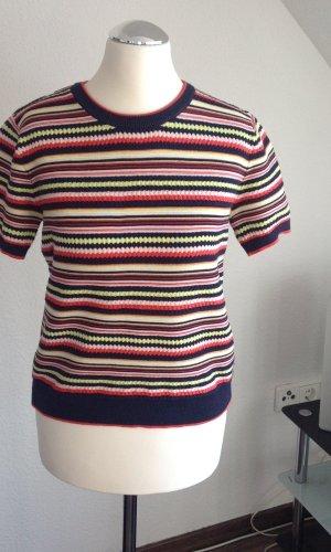 Zara Knit Sweater met korte mouwen veelkleurig