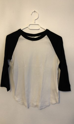 H&M Sweater met korte mouwen wit-zwart