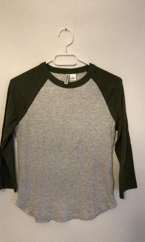 H&M Sweater met korte mouwen zilver-groen-grijs
