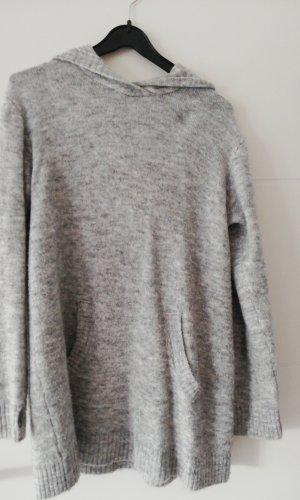 H&M Sweaterjurk lichtgrijs
